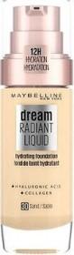 Maybelline Dream Radiant Liquid Foundation 20 cameo, 30ml