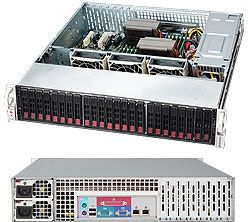 Supermicro SuperChassis 216E2-R900LPB black, 2U, 900W redundant