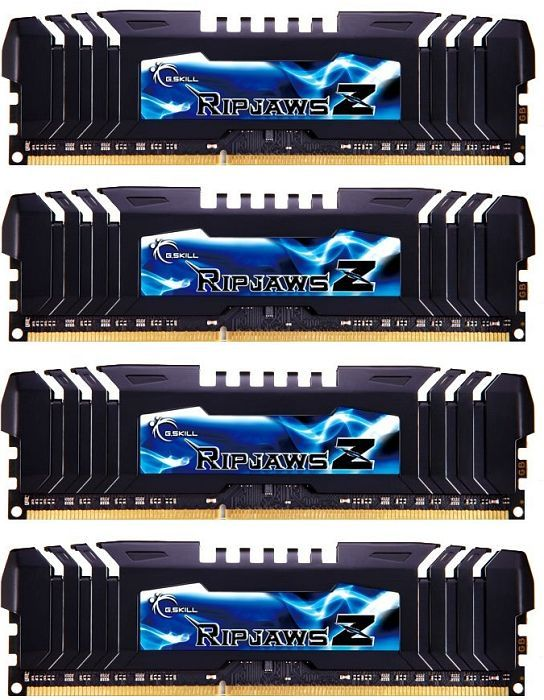 G.Skill RipJawsZ DIMM Kit 16GB PC3-19200U CL9-11-10-28 (DDR3-2400) (F3-19200CL9Q-16GBZHD)