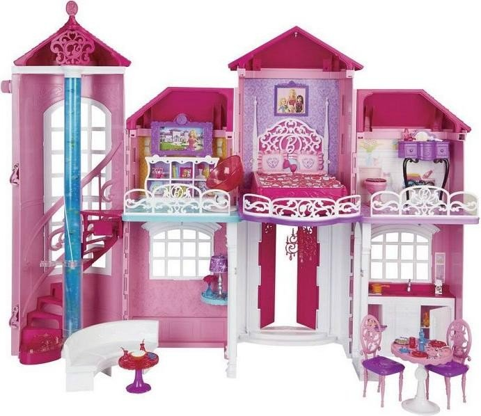 mattel barbie life in the dreamhouse traumhaus ab 199. Black Bedroom Furniture Sets. Home Design Ideas