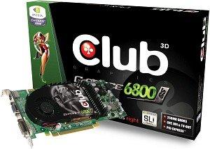 Club 3D GeForce 6800 GS, 256MB DDR3, DVI, TV-out, PCIe (CGNX-GS686)
