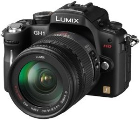 Panasonic Lumix DMC-GH1 schwarz mit Objektiv Lumix G Vario HD 14-140mm 4.0-5-8 OIS (DMC-GH1K)