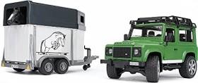 Bruder Profi-Serie Land Rover Defender mit Pferdeanhänger (02592)