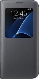 Samsung EF-CG935PB S-View Cover für Galaxy S7 Edge schwarz