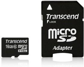 Transcend microSDHC 16GB Kit, Class 10 (TS16GUSDHC10)