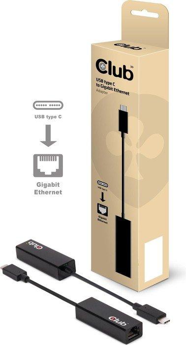 Club 3D Adapter, RJ-45, USB-C 3.0 [Stecker] (CAC-1500)