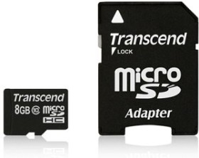 Transcend microSDHC 8GB Kit, Class 10 (TS8GUSDHC10)