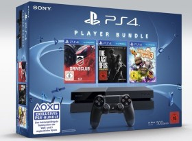 Sony PlayStation 4 - 500GB Driveclub The Last Of Us Remastered & Little Big Planet 3 Bundle schwarz