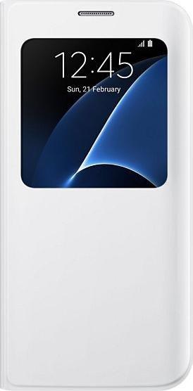 Samsung EF-CG935PW S-View Cover für Galaxy S7 Edge weiß