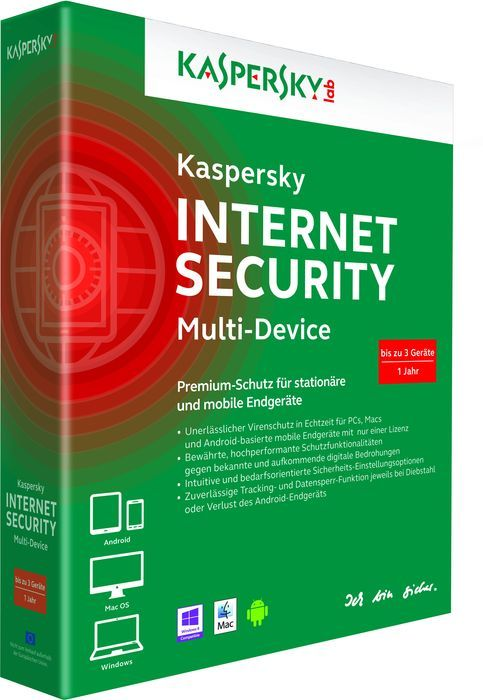 Kaspersky Lab Internet Security 2014 Multi Device, 3 User (deutsch) (Multi-Device)