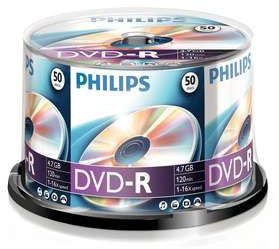 Philips DVD-R 4.7GB, 50-pack (DM4S6B50F)