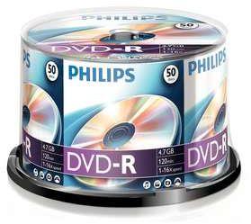 Philips DVD-R 4.7GB, 50er-Pack (DM4S6B50F)