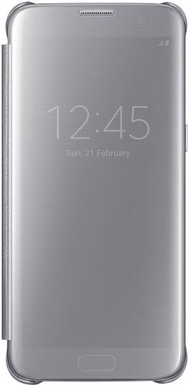 Samsung EF-ZG935CS Clear View Cover für Galaxy S7 Edge silber ab ... 63d5433f6173
