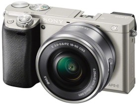 Sony Alpha 6000 silver with lens AF E 16-50mm 3.5-5.6 OSS PZ (ILCE-6000LS)