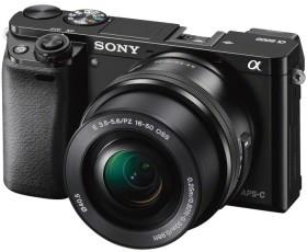 Sony Alpha 6000 schwarz mit Objektiv AF E 16-50mm 3.5-5.6 OSS PZ (ILCE-6000LB)