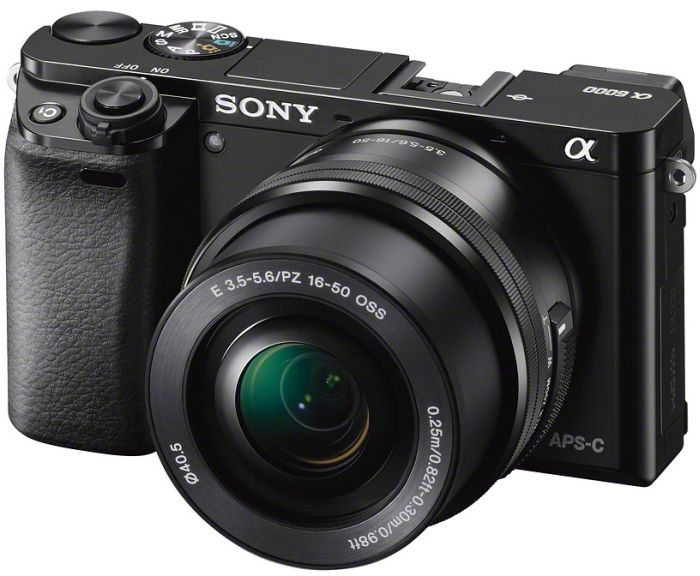 Sony Alpha 6000 black with lens AF E 16-50mm 3.5-5.6 OSS PZ (ILCE-6000LB)