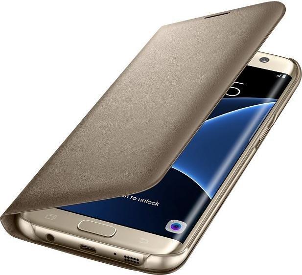 Samsung LED Cover für Galaxy S7 Edge gold (EF-NG935PFEGWW)