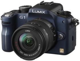 Panasonic Lumix DMC-G1 blau mit Objektiv Lumix G Vario 14-45mm OIS und 45-200mm OIS (DMC-G1W)