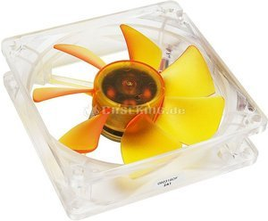 Akasa Ultra Quiet amber Series, 92x92x25mm, 1400rpm, 49.3m³/h, 18dB(A) (AK-184-L2B)
