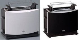Braun Toaster weiß HT450 Toastautomat Brotröster Automat Brötchenaufsatz