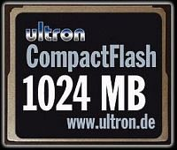 Ultron CompactFlash Card (CF) 1GB (UCF-1024) (8380)