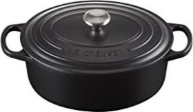 Le Creuset signature cast iron roasting dish oval 29cm black (21178290000430)