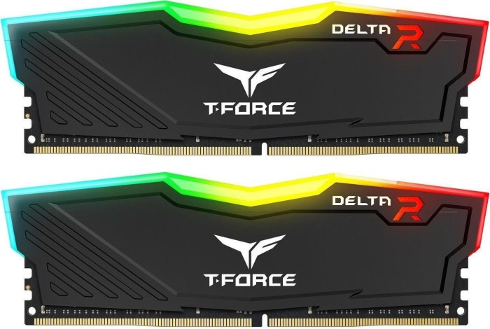 TeamGroup T-Force Delta RGB schwarz DIMM Kit 16GB, DDR4-2666, CL15-17-17-35 (TF3D416G2666HC15BDC01)