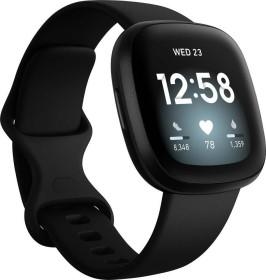Fitbit Versa 3 Aktivitäts-Tracker black/black aluminium (FB511BKBK)