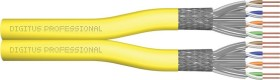 Digitus Professional Twisted-Pair Duplex Verlegekabel, Cat7a, S/FTP, ohne Stecker, 500m, gelb, Dca (DK-1743-A-VH-D-5)