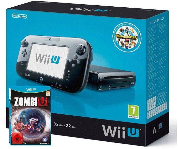 Nintendo Wii U Premium pack - 32GB ZombiU Bundle black
