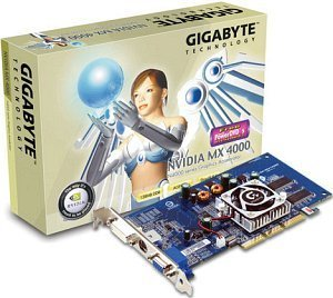 Gigabyte GeForce4 MX4000, 128MB, DVI, TV-out, AGP (GV-N40128DE)