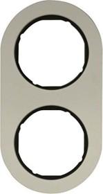 Berker Serie R.classic Rahmen 2fach, Alu/schwarz (10122084)