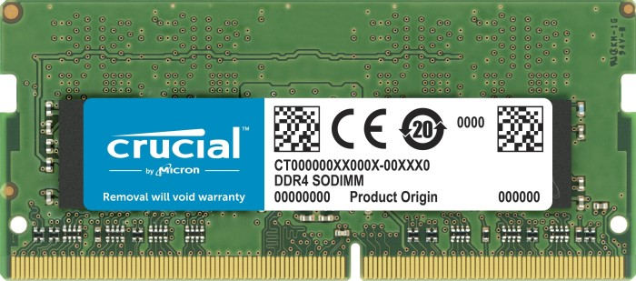 Crucial SO-DIMM 4GB, DDR4-2400, CL17 (CT4G4SFS824A)