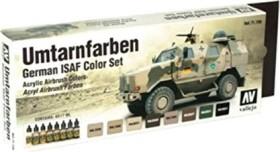 """Vallejo Model Air """"Umtarnfarben German ISAF Color Set"""" Farbset, 8-tlg. (71.159)"""