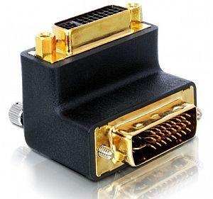 DeLOCK DVI adapter, plug/plug, angled 90° (65173)