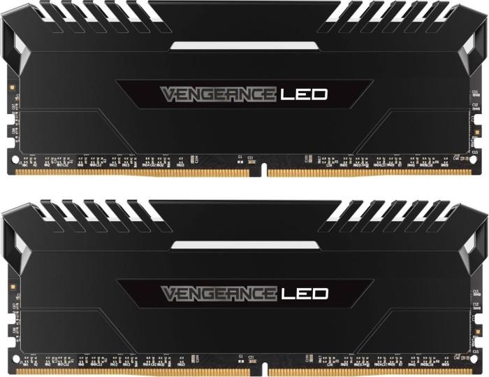 Corsair Vengeance LED weiß DIMM Kit 16GB, DDR4-3333, CL16-18-18-36 (CMU16GX4M2C3333C16)