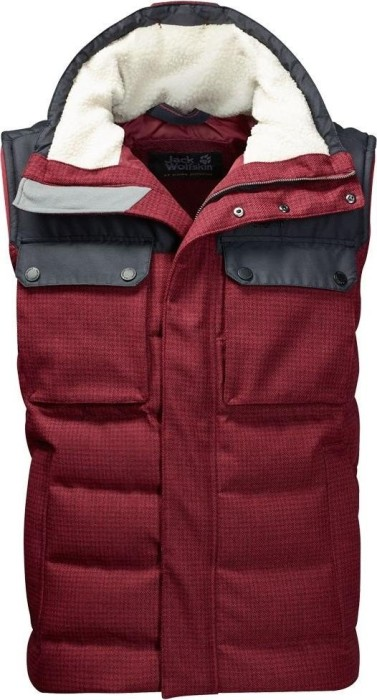 the latest efe2e a6446 Jack Wolfskin Banff Springs Weste dark red checks (Herren) (1203421-9670)