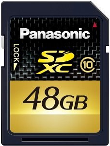 Panasonic Gold SDXC 48GB, Class 10 (RP-SDW48GE1K)