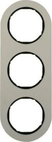 Berker Serie R.classic Rahmen 3fach, Alu/schwarz (10132084)