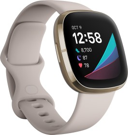 Fitbit Sense Aktivitäts-Tracker lunar white/soft gold (FB512GLWT)