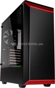 Phanteks Eclipse P300 schwarz/rot, Glasfenster (PH-EC300PTG_BR)