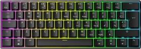 Mizar Mz60 LUNA black, LEDs RGB, Gateron BROWN, USB, UK (MZ60-UK-BK-BROWN)