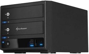 """Sharkoon 2-Bay RAID Box, 3.5"""", USB-B 3.0 (4044951011346)"""