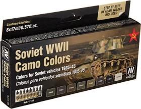 "Vallejo Model Air ""Soviet WWII Camo Colors"" Farbset, 8-tlg. (71.188)"