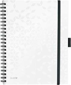 Leitz WOW Be Mobile Collegeblock mit PP-Einband weiß A4 liniert, 80 Blatt (46440001)