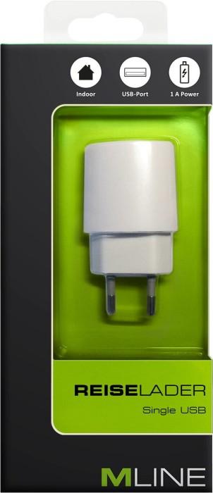 MLine Reiseladegerät Single USB 1A weiß (HUSB3500WH)