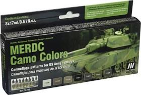 """Vallejo Model Air """"MERDC Camo Colors"""" Farbset, 8-tlg. (71.202)"""