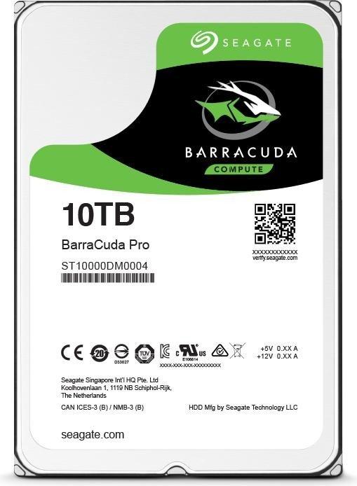 Seagate BarraCuda Pro +Rescue 10TB, SATA 6Gb/s (ST10000DM0004/ST10000DM001)