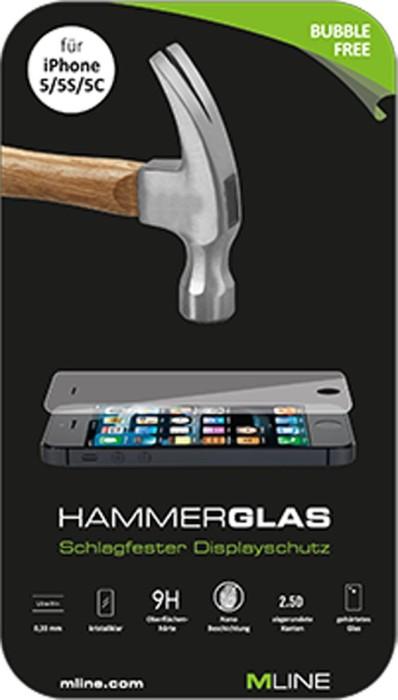 MLine Crystal Clear Hammerglas für Apple iPhone 5/5S/5C/SE (HDISAPPIPHO5H) -- via Amazon Partnerprogramm