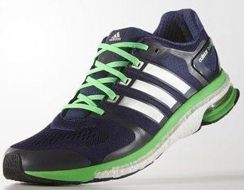 well known quality design run shoes adidas adistar Boost ESM midnight indigo/white/flash green ...